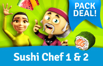 Download en speel Youda Sushi Chef Pack