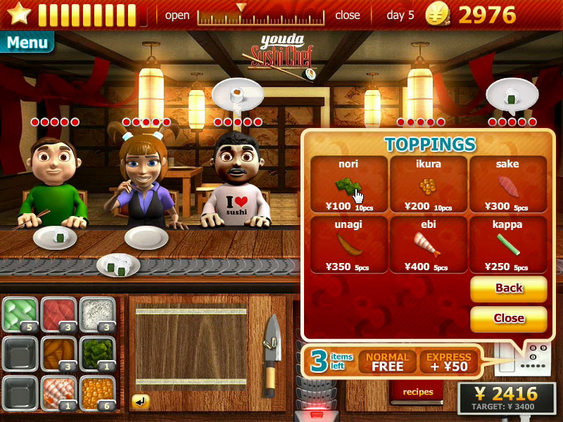Download game youda sushi chef full version.