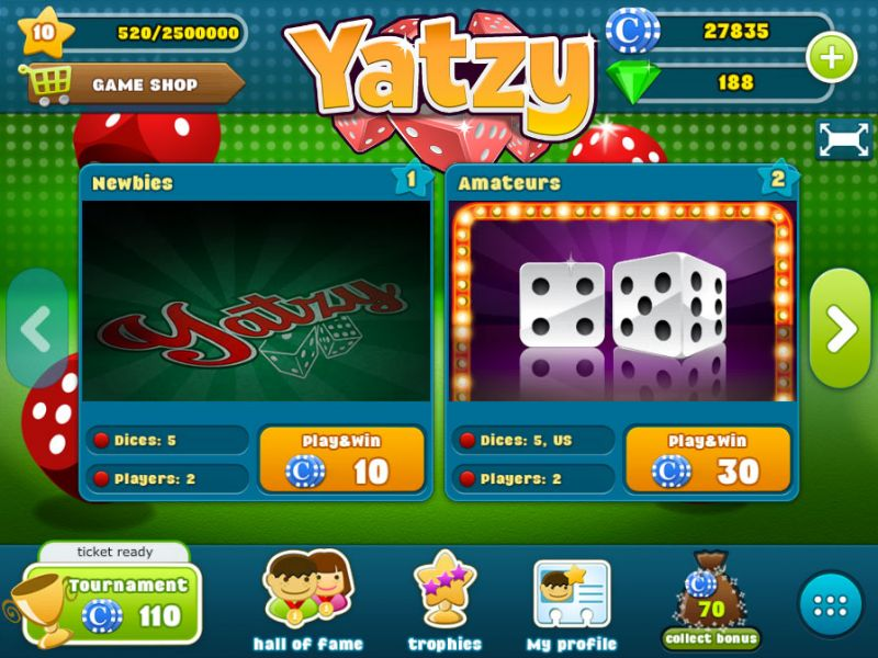Yatzy Game